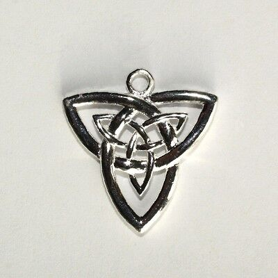 CELTIC TRINITY KNOT- Triquetra - Solid 925 Sterling silver pendant/necklace-21mm