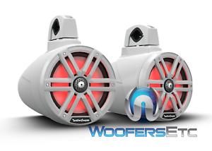 ROCKFORD-FOSGATE-M2WL-8-WHITE-8-034-MARINE-1000W-BOAT-WAKEBOARD-TOWER-SPEAKERS-NEW