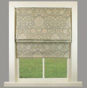 Naples Grey Fully Lined Roman Blind Choice Of Standard