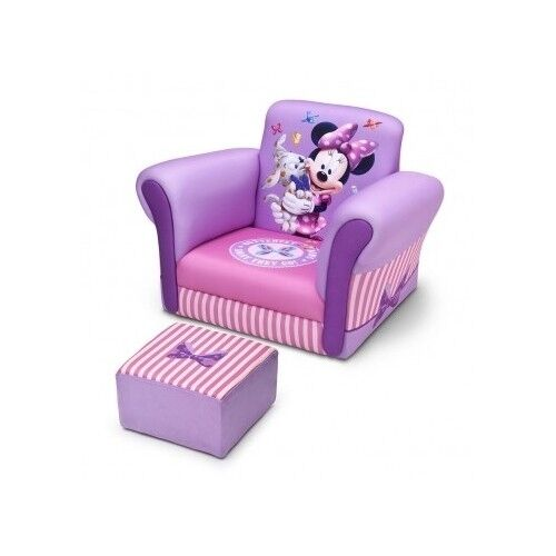 Minnie Mouse Sofa Chair Ottoman Purple Girls Pink Kids Bedroom Indoor Home