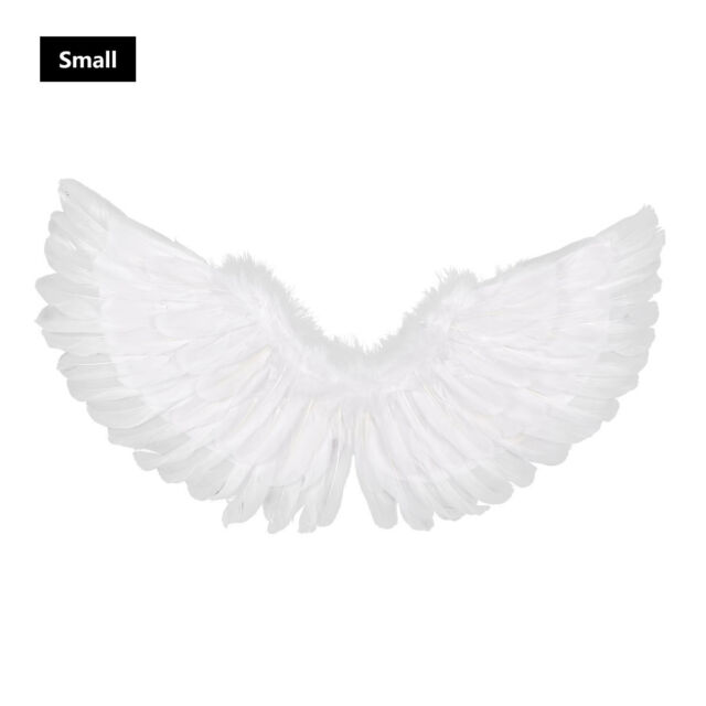 UNISEX LARGE ADULT WHITE ANGLE WINGS WITH SILVER GLITTER CHRISTMAS FANCY DRESS