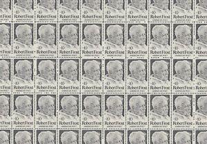 Robert Frost Mint Sheet of 50 Stamps, Scott #1526, MNH Free Shipping! Nice!