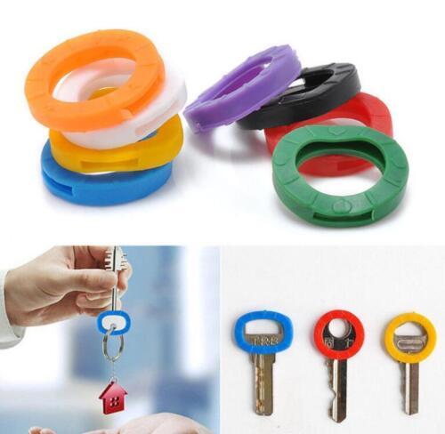 20PCS Keyring Silcone Rubber Soft Key Locks Key Cap Covers Hollow Topper Sorting