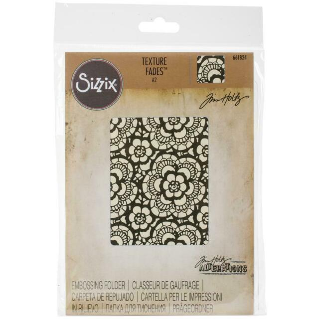 Tim Holtz Texture Fades Embossing Folder by Sizzix - Lace