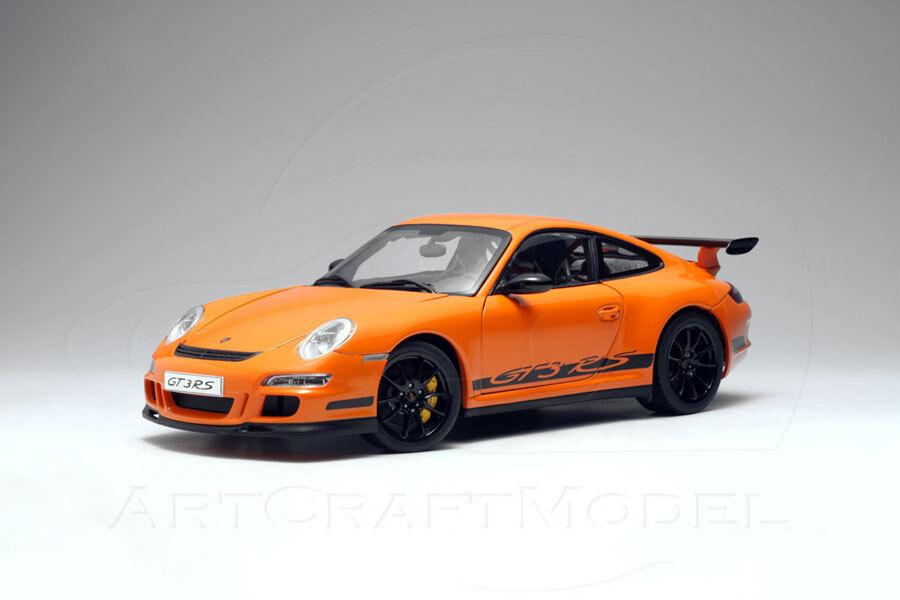 Porsche 911 (997) GT3 RS Coupé Orange Autoart 1 18 très Brand New in box Comme neuf