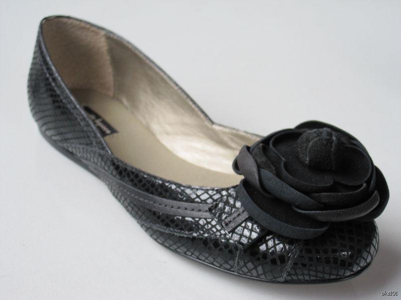 $240 JEAN Suede MICHEL CAZABAT ROMA Nero Suede JEAN Steel Designer Ballet Flats 9 EUR 40 6409e6