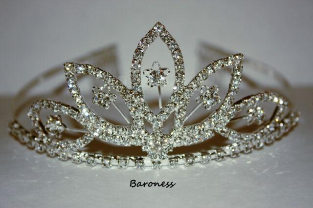 Diamante Tiaras.  Elegant Bridal or Prom Tiaras, 5 Glamorous Designs