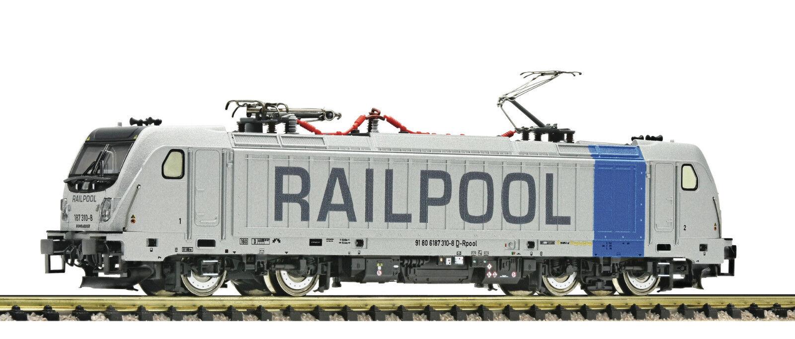 Fleischmann N 738974 E-LOK BR 187 Railpool DIGITALE CON SUONO NUOVO ORIGINALE