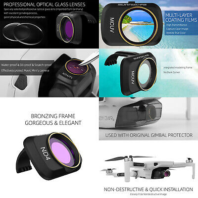 ND4 8 16 32 CPL UV ND UV CPL Filter Light Weight Lens Filter for DJI Mavic 2 Zoom Drone Gimbal Camera Lenses UV CPL Filter ND4 ND8 ND16 Multi Coated Filter HD Glass