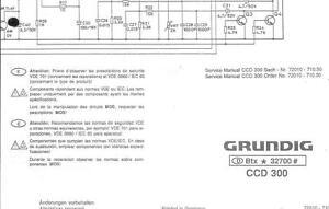 Grundig Original Service Schaltplan für CCD 300 | eBay