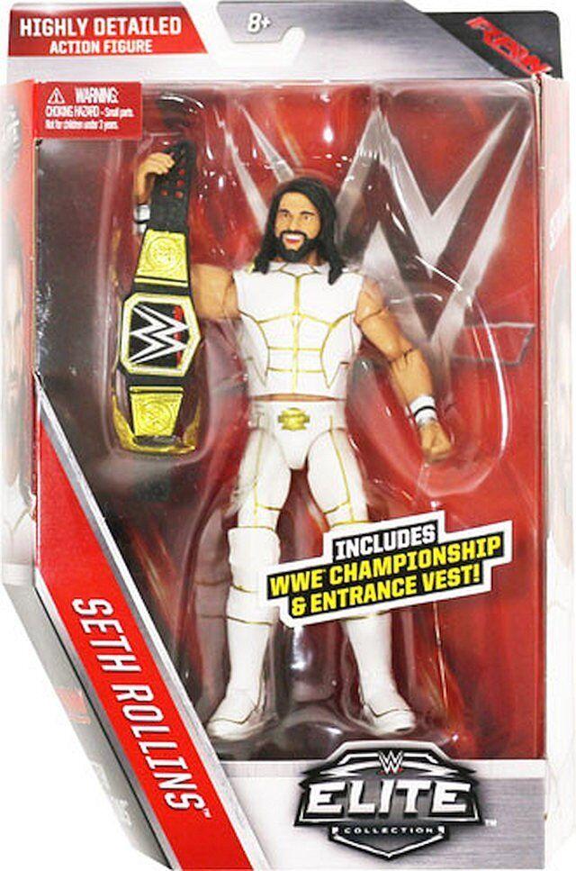Wwe Seth Rollins Mundo Resistente Belt Elite Series 45 Figura de Lucha Acción