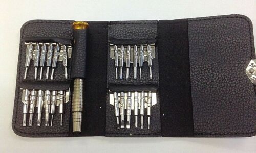 Details about  /New 25 Pc Screwdriver Set for Phone Repair w//Portable Carrying Pouch-Free Ship