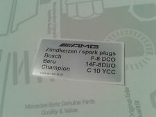 Hinweisschild Zündkerzen AMG W124 S124 W202 E36 C36 G36 M104 sticker spark plugs