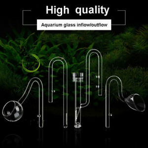 Aquarium-tank-plant-Glass-Inflow-amp-Outflow-Lily-Poppy-Pipe-skimmer-13MM-17MM