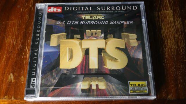 DTS AUDIO CD - Telarc 5.1 DTS Surround Sampler - 20 BIT 5.1 CHANNEL