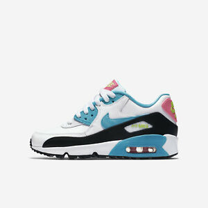 a539b1d7ef17d Details about Nike Air Max 90 LTR (GS) Big Kid's Shoe Grade School, White  Blue Pink 833376-104