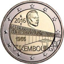 LUXEMBURGO 2 EUROS 2016 - CONM. 50 AÑOS PUENTE GRAN DUQUESA CARLOTA - S/C