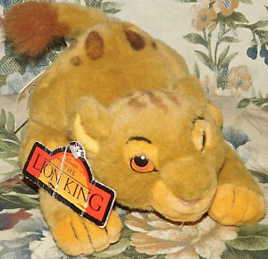 Disney-Store-Lion-King-Pouncing-Prouncing-Simba-Cub-8-034-Plush-1994-NEW-NWT-Toy