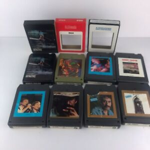 Lot Of 8 Folk/Rock Music 8 Track Tapes Taylor Chapin Croce Simon & Garfunkel