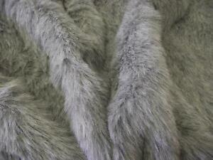 Luxury-Quality-Plush-Soft-Grey-Fun-Faux-Fur-Fabric-60-034-150cm-wide-Furry-Heavy