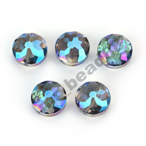 20pcs Charm Round Faceted Loose Crystal Glass Beads Jewelry Findings 18mm