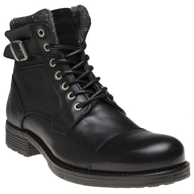 8b084aeead6 Black SOLE Mens New Gophir Lace Zip Up Boots Leather zmqs972886936 ...