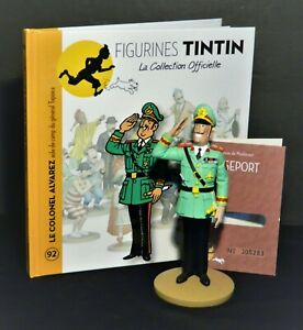 LARGE-5-034-TINTIN-FIGURINE-034-OFFICIAL-COLLECTION-034-M92-LE-COLONEL-ALVAREZ-AIDE-DE