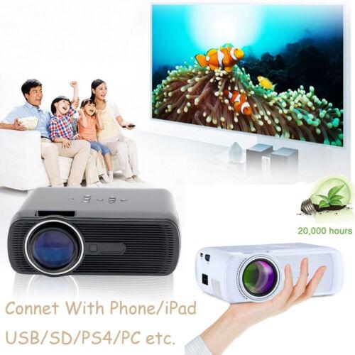 1000Lumens Mini HD LED Projector 1080P Home Cinema Theater 3D VGA USB SD AV HDMI