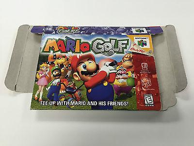 Mario Golf Nintendo 64 Empty Box ONLY - No Game -