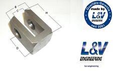 Anschweißauge Anschweißgabel 16mm 16,2mm Gabelkopf Hydraulikzylinder ToP!