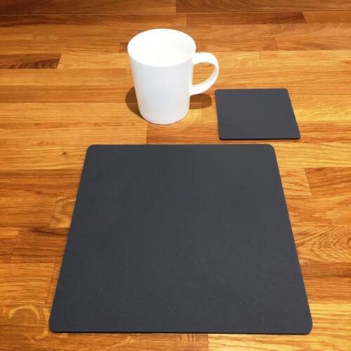 """De forme carrée graphite mat gris acrylique Sets de Table /& Sous-verre 4//6//8 taille 9/""""//12/"""""""