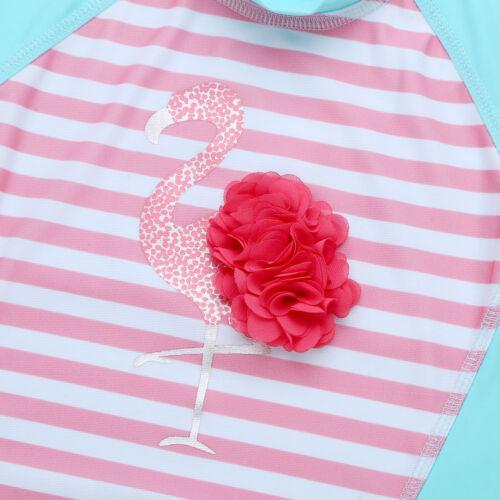 Toddler Kids Floral Swimwear Rash Guard Costume Swimsuit Bathing Suit Beachwear
