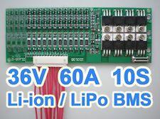 36V 37V 42V 10S 60A Lithium ion Li-ion Li-Po LiPo Polymer Battery BMS PCB System