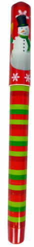 SMAN PM296 11 Inch Red And Green Stripy Snowman Jumbo Christmas Pen