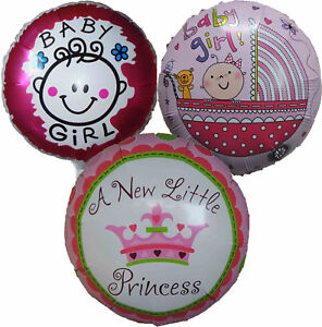3pces Baby Girl Balloon Baby Shower Welcome Home Christening Day