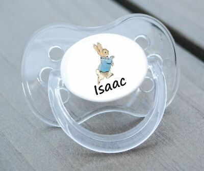 ALL TEATS,SIZES /& COLOURS PERSONALISED DUMMY PACIFIER SOOTHER RABBIT 2