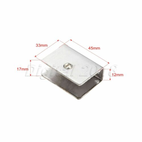 4x Square Clamp Holder Brackets Clips For 6-12mm Thickness Glass Shelf Handrails