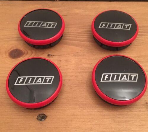 Nuovo di Zecca FIAT PUNTO 48mm CENTRALE CERCHI IN LEGA CENTER CAPS x 4pcs 43mm DIAMETRO FORO