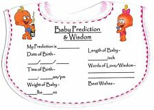 Baby Shower Games/Gift Prediction Cards(10 Players) CHEAPEST ALL GAMES FOR £1.99