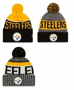Pittsburgh-Steelers-Cuffed-Beanie-Winter-Knit-Cap-Hat-NFL-Authentic