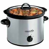 Crock-pot Scr300ss 3-quart Round Manual Slow Cooker Stainless Steel on sale