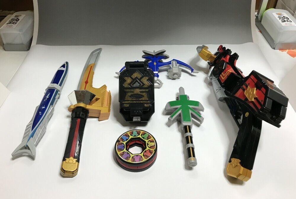 Power Rangers Samurai Shinkenger Shinkenmaru, Inromaru, Sakanamaru etc set Japan