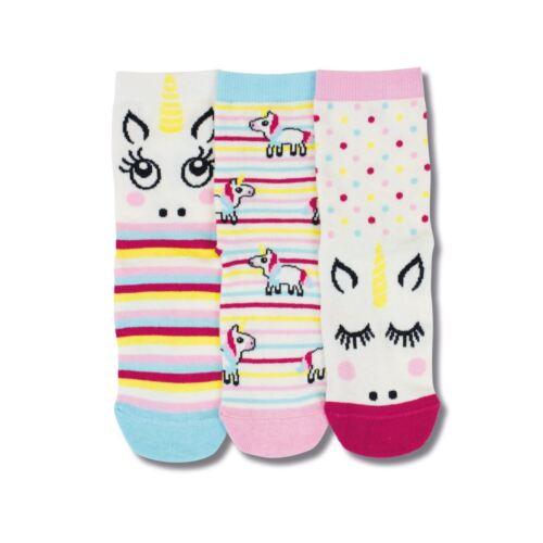 United Oddsocks Magic UK 9-12 Kids Set Of 3 Odd Socks Unicorn Stripes Gift Idea
