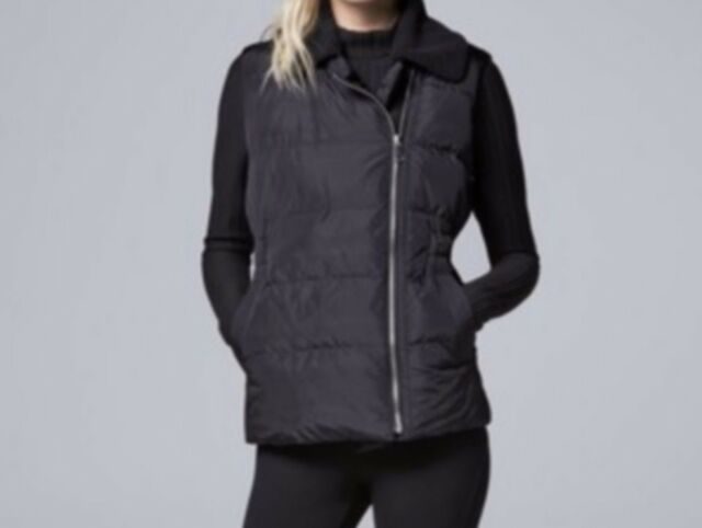 466702e2ea9aa Simply Vera Vera Wang Sherpa Collar Puffer Jacket Vest M Medium for sale  online