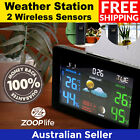 Indoor Outdoor Monitor Digital Weather Station with 2 Wireless Sensors