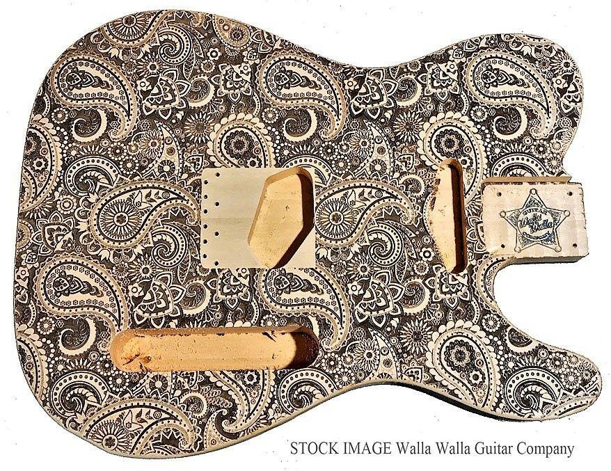 Electric Guitar Body Poplar Basswood Laser Etched Walla Company Tele Telecaster