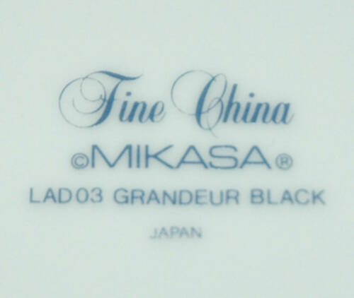MIKASA FINE CHINA SAUCE FRUIT BOWL GRANDEUR BLACK LAD03
