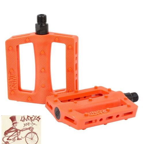 "RANT THRILL PC ORANGE 9//16/"" BICYCLE PEDALS"