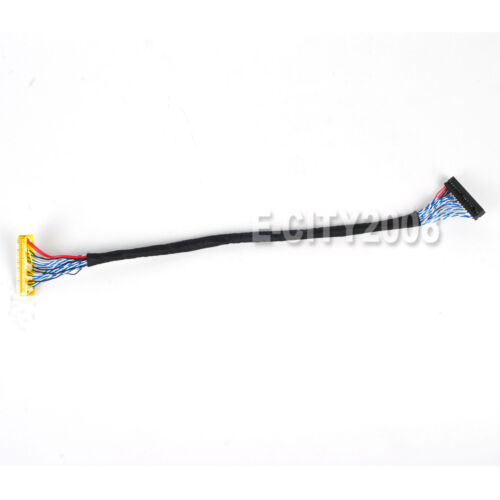 FIX-30Pin 2ch 8bit LVDS Cable for 17inch~26inch LCD Panel 8 Bits 25cm//250mm NEW