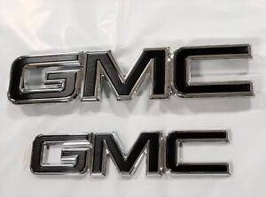 2015-2021GMC Canyon Grille and Tailgate GM Black Emblems Chrome Edge 84380554